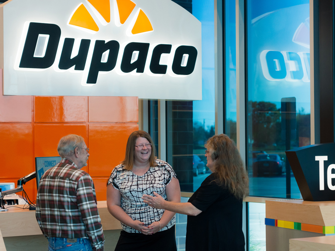 Dupaco Members Donna And Dave Stoneking Meet With Dupaco's Jacki Clasen