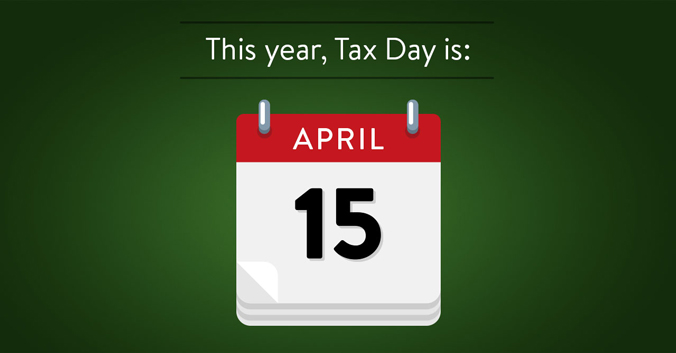 This Year, Tax Day Is April 15.