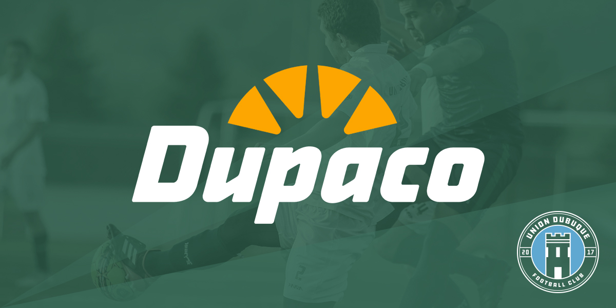 Dupaco Sponsors Union Dubuque F.C.