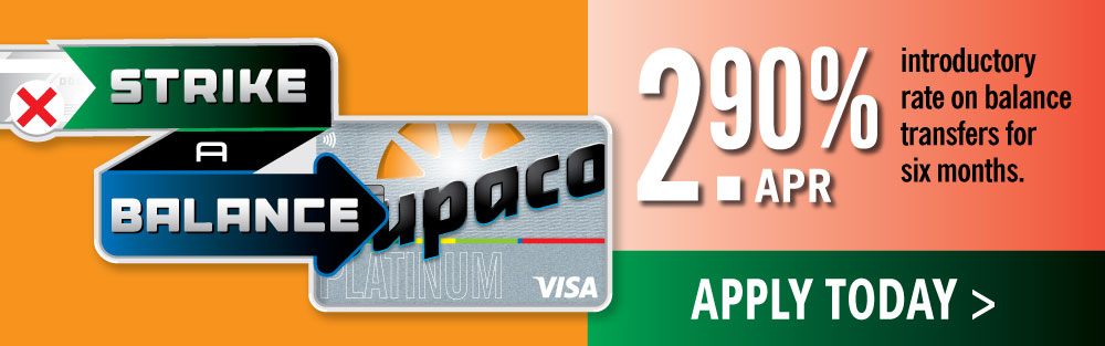 Strike a balance! Apply for a Dupaco Platinum Visa today!