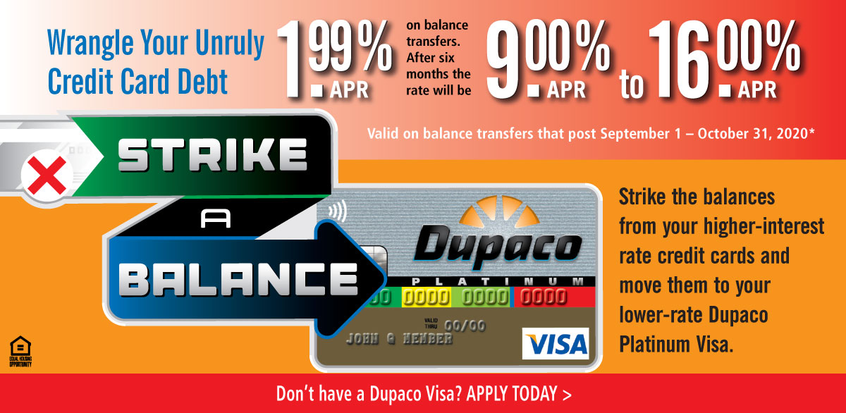 Strike a balance with this limited time balance transfer rate