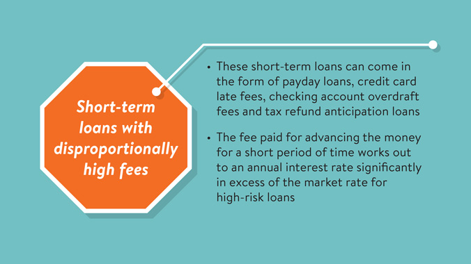 Telltale Warning Signs Of Predatory Lending: Short-term Loans With Disproportionally High Fees