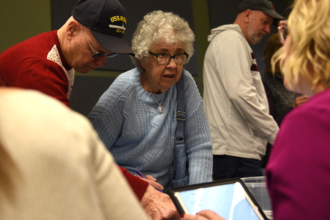 Dupaco Members Check Into The 71st Annual Dupaco Meeting Of The Membership On March 1, 2020, At The Peosta Community Centre In Peosta, Iowa.