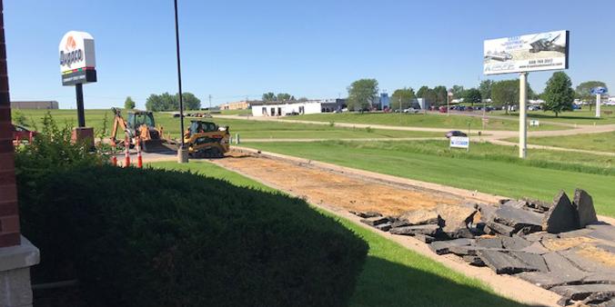 Construction started in June 2020 for the Platteville branch makeover. (J. Roling/Dupaco photo)