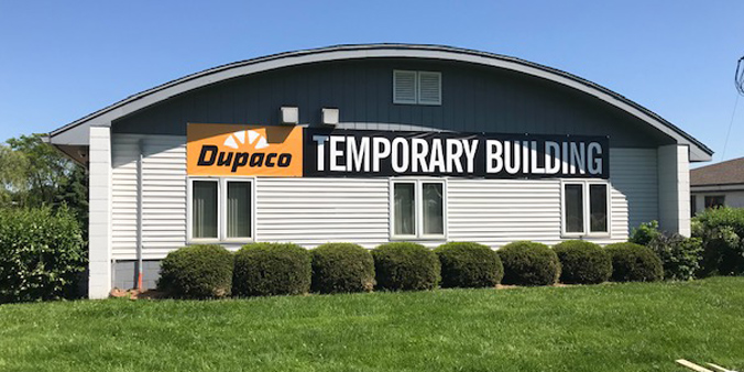 A temporary building next to the current branch will be available for appointments like loan closings, account openings and other face-to-face member services until the lobby reopens later this summer.