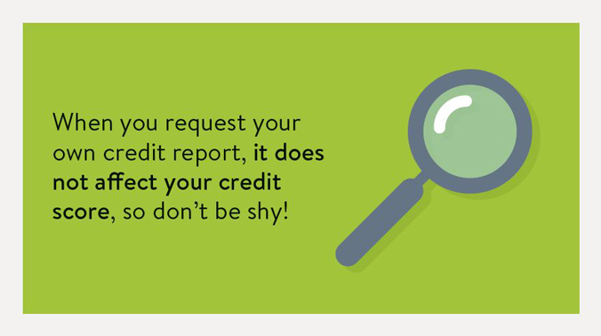 When you request your own credit report, it does not affect your credit score, so don't be shy!