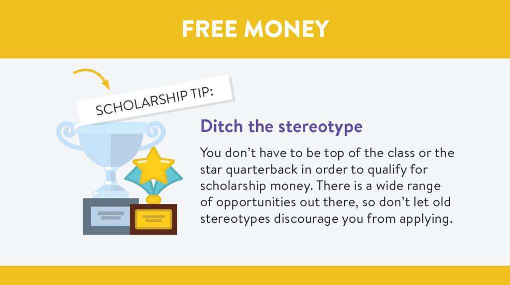 College scholarships: Ditch the stereotype