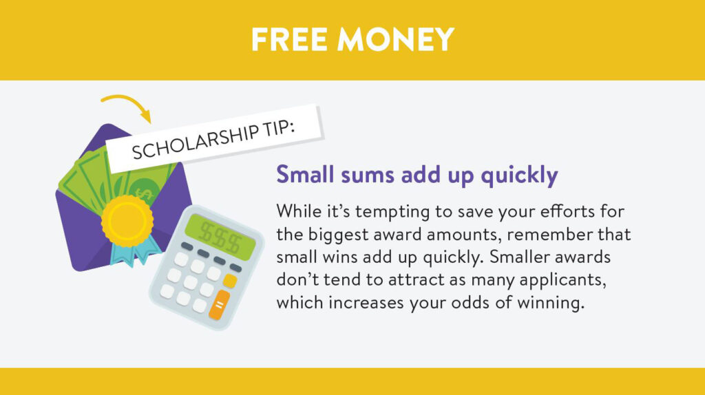 College scholarships: Small sums add up quickly