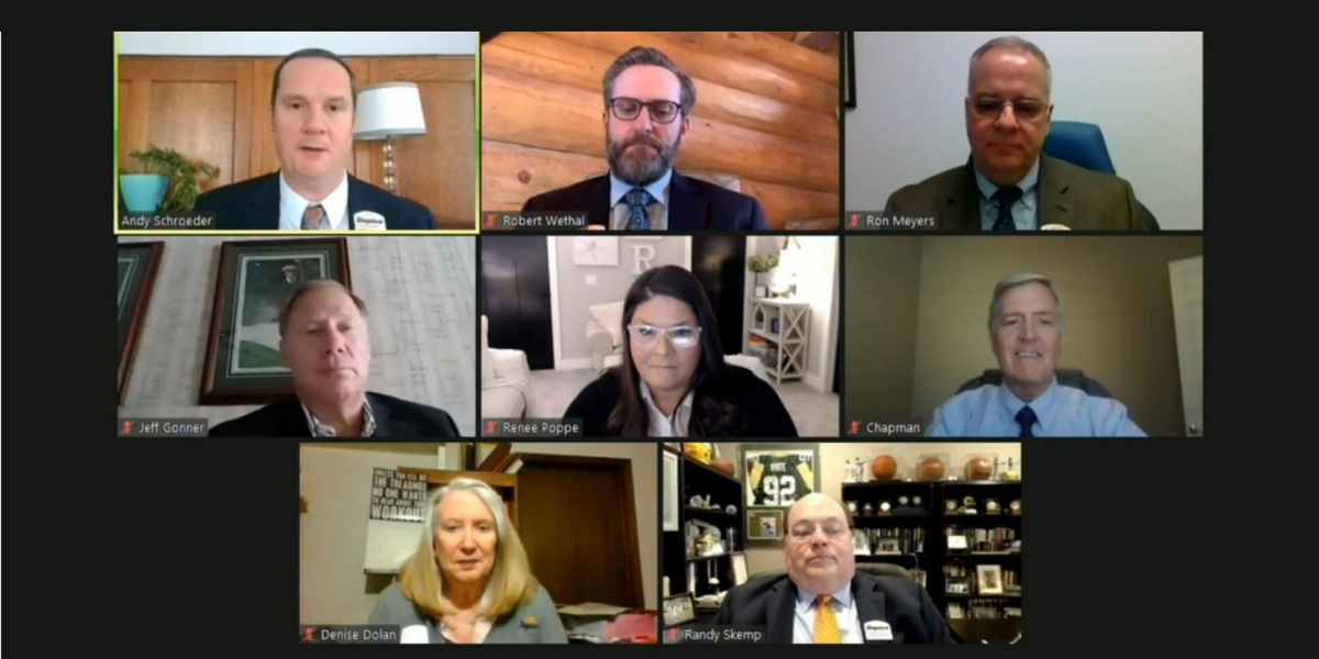 During The Virtual 72nd Annual Meeting Of The Membership On Feb. 21, The Dupaco Board Of Directors Welcome Those In Attendance.